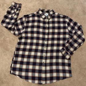 Men's 100% Cotton Collared Plaid Flannel Shirt